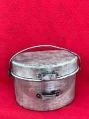 Captured Italian M30 mess tin used by the German Army found on a Brocante in Enidhoven from Operation market garden and battles in Holland in late 1944