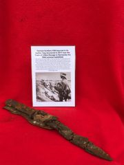 German soldiers complete K98 bayonet in its scabbard and leather frog recovered in 2017 near the Town of Villers Bocage in Normandy the summer 1944 battlefield