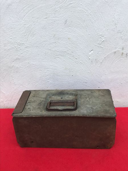 German double maxim machine gun ammunition tin nice condition with some original paintwork found on the Somme battlefield of 1916-1918