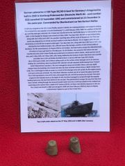 German crewman's sewing thimbles recovered from U-Boat U534 which was sunk on the 5th May 1945