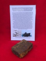 Small metal storage tin used by the maintenance crew in the engine room recovered from U-Boat U534 which was sunk on the 5th May 1945