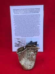Small aluminium drinking cup recovered from the U-Boat U534 which was sunk on the 5th May 1945