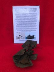 Very rare German crewman's leather glove remains recovered from U-Boat U534 which was sunk on the 5th May 1945