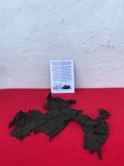 Very rare German crewman's uniform jacket remains recovered from U-Boat U534 which was sunk on the 5th May 1945