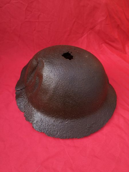 British 1st Pattern Brodie Helmet,nice solid relic recovered from Bourlon Woods the November 1917 battle part of the Allied Cambrai offensive