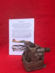 Engine part with maker markings,nice condition from Russian il-2 Sturmovik ground attack aircraft shot down over the Reich recovered South of Berlin in the area the German 9th Army fought,surrendered in April 1945