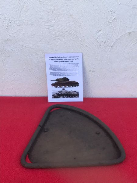 Russian T34 tank gun loaders seat,nice condition relic recovered from the battlefield on the Seelow Heights in 1945 the opening battle for Berlin