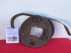 German battle damaged wheel remains used by the 1st SS Panzer Division recovered near stavelot from the Ardennes Forest used during battle of Bulge 1944-1945
