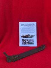 Locking catch from hatch used on German Panther tank from SS Division or Corps Tank which was defending Hill 112 near Caen in Normandy 1944 battle