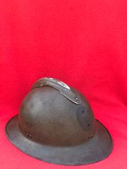 Belgium Army M26 Adrian helmet no badge, complete with leather chin strap found in Bruges from the battle of Belgium the May in 1940