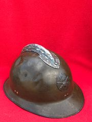 French Army M26 Artillery soldier of the 95th infantry regiment Adrian helmet, original paintwork and named,unit numbers on the inside by war time owner found in Bruges from the battle of Belgium the May in 1940