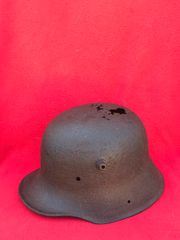 German soldiers M16 helmet very nice condition relic,well cleaned recovered on the 1916-1918 Somme battlefield