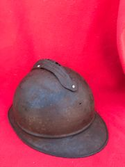 French soldiers M15 Adrian helmet,lovely condition relic recovered from around Hill 304 and Malancourt area of the March - May 1916 battle of Verdun