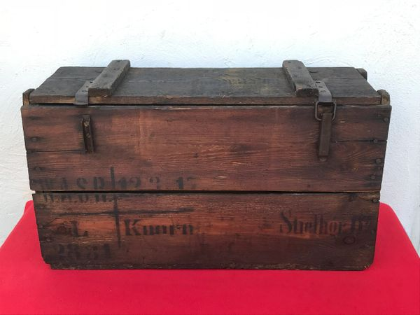 German stick grenade carry box for 25 grenades,markings dated 1917 with paper label remains found on the Somme battlefield 1916-1918