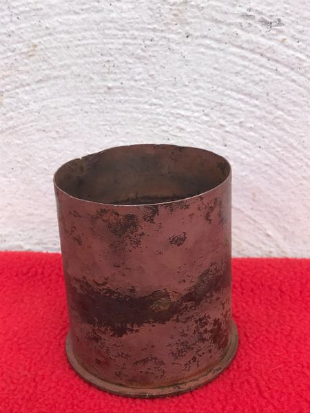 German brass shell case,original markings,nice condition relic,7.5cm LE.IG 18 leichtes infantry support gun recovered semi- relic condition used by 77th Infantry Division or the defence battery recovered Mairle de Pleurtuit,1944 Normandy