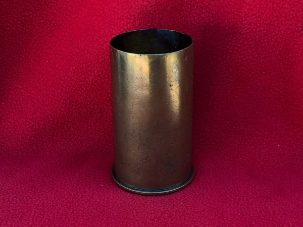 Rare British QF 2.95-inch mountain gun brass case nice condition used only in the East and Weat Africa campaigns 1914-1918