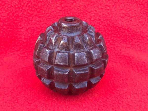 Rare German 1913 pattern Kugel hand grenade,nice condition relic recovered in 2016 from Regina Trench near Courcelette on the Somme battlefield,October 1916
