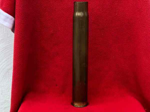 British 3 pounder royal naval brass shell case dated 1928 all original markings,nice condition British home front use