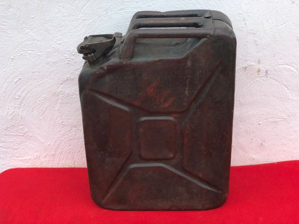 German Fuel can the famous Jerry can maker marked V&N dated 1943,lot of original paintwork used by the 116th Panzer Division recovered from near Houffalize in the Ardennes forest from battle of the bulge winter 1944-1945