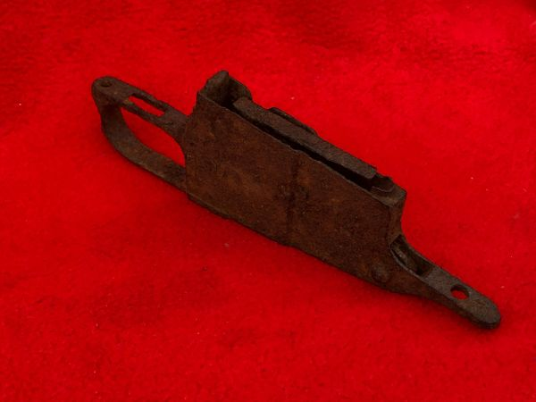 Russian soldiers mosin nagant rifle trigger-magazine part used by a soldier of the 3rd Shock Army recovered near district of Pankow in North Berlin captured by them on 23rd April 1945 during the Battle for the city