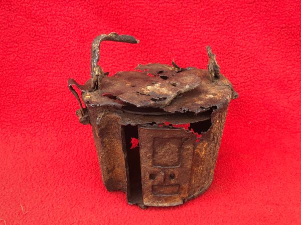 German MG 34/42 basket ammunition drum relic condition with some paint remains used by soldiers of Panzer Grenadier Division Kurmark recovered, Carzig south of the Seelow heights the 16-19 April 1945 battlefield