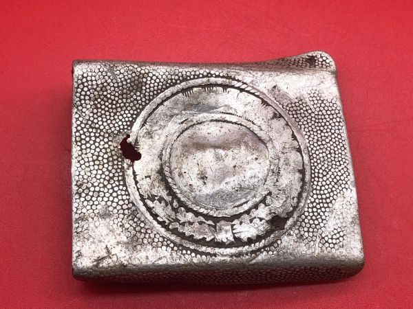 German Army soldiers aluminium belt buckle,clear eagle and maker mark on the back recovered from Monte Cassino the Italian battlefield of 1944 the buckle was recovered many years ago and has been in a local museum since which closed down in 2015