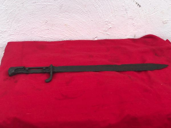German M1898-1905 pattern Butcher Bayonet nice condition relic recovered from Broodseinde Ridge the October 1917 battle part of the battles around the Ypres salient in the later part of the war.