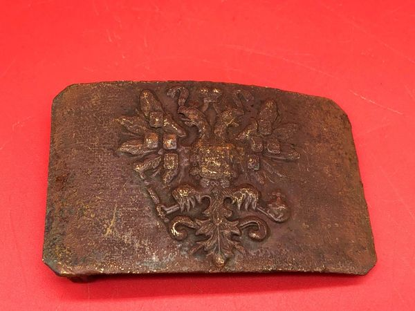 Russian soldiers belt buckle nice semi-relic condition, well cleaned recovered from the battlefield around Trabzon in Turkey from the fighting after the Russian landings in March 1916 on the Turkish coast