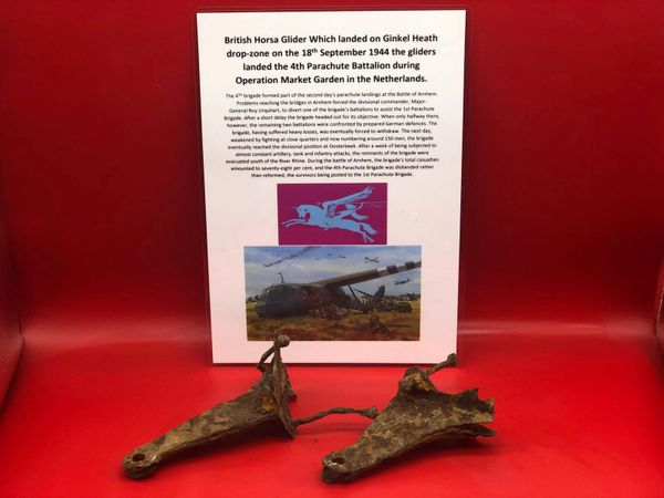 Rare pair of structure parts from British Horsa Glider Which landed on Ginkel Heath drop-zone on the 18th September 1944 the gliders landed the 4th Parachute Battalion during Operation Market Garden in Arnhem