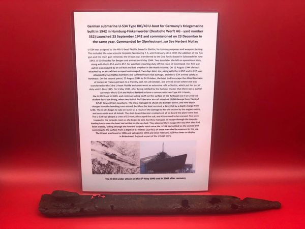 German K98 Bayonet scabbard solid relic condition recovered from U-Boat U534 which was sunk on the 5th May 1945 by RAF Bombers