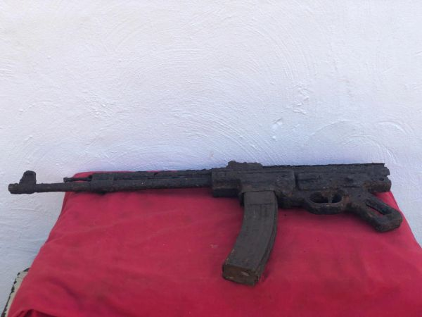 Very rare MP44 machine gun near complete very well cleaned solid relic recovered from a field near Trun where lots of German equipment was thrown in and buried after the battle, Falaise Pocket 1944