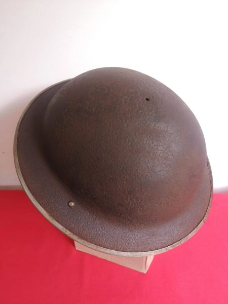 British soldier of the 8th Army Mark 3 Brodie Helmet, nice condition relic dated 1941 recovered from outside Hamburg from the battle that was fought against German 1st parachute army in April - May 1945