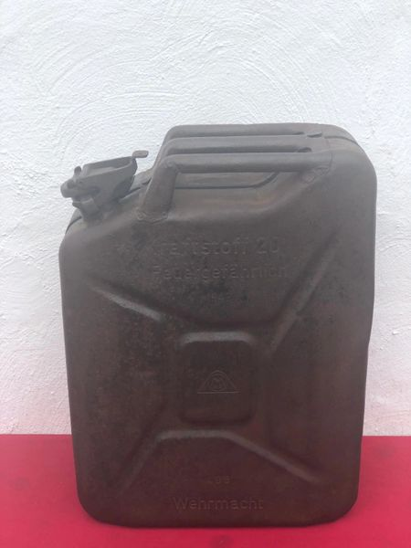 German Fuel can the famous Jerry can maker marked rare dated 1942, some original black paintwork recovered on the Sevastopol battlefield in the Crimea 1941- 1942