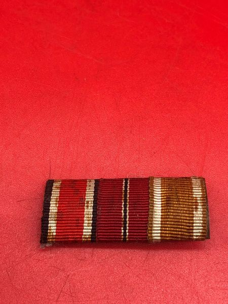 German trio ribbon bar awards iron cross, eastern front medal,west wall medal nice used condition uniform removed from German prisoners of war captured from the local museum in Monte Cassino the Italian battlefield of 1944 which closed down in 2015