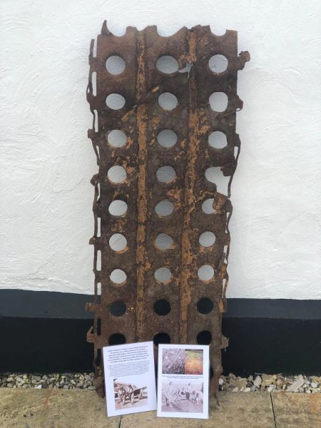 Rare large Section of marston mating or steel roadway, solid relic recovered from Le Molay Airfield in Calvados located 2 miles north of Le Molay-Littry established as a airfield after D-Day on 21st June 1944