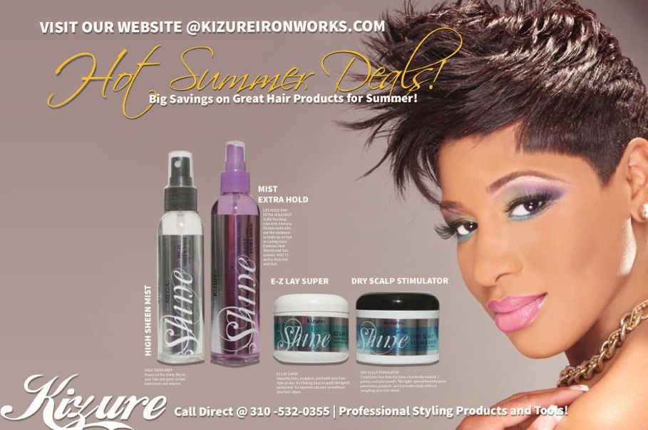 Kizure Hair Products  Designed by Vera White, Evoke Media and Ken Wilson. Exclusive  styling .