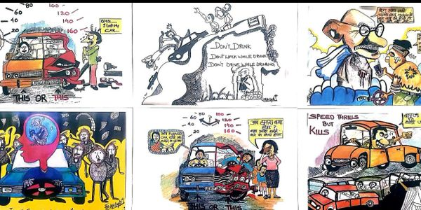 Amazing Nada India volunteers Afilash T Issac cartoonist has joined the Young India Network cause.