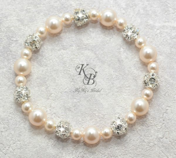 Elastic Bridal Bracelet Pearl Wedding Jewelry Pearl And