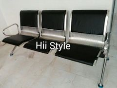 Waiting Bench Stainless Steel (Cushion 3-Seater)