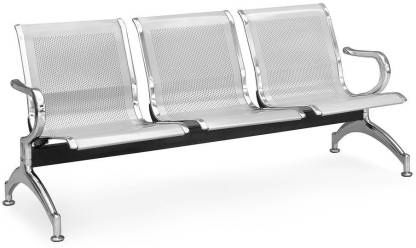 Waiting Bench Airport Metal Sofa Reception Three 3 seater (MS , Iron)