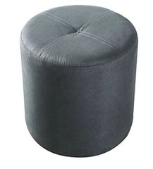 Pouffe Grey Leatherette