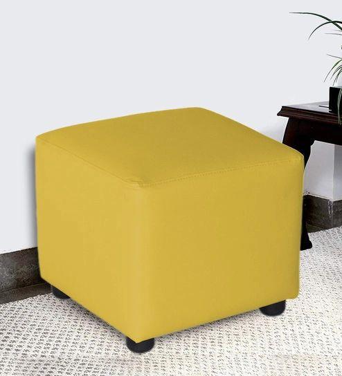 Pouffe Square Leatherette
