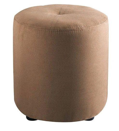 Pouffe Round Brown