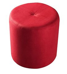 Pouffe Red Leatherette
