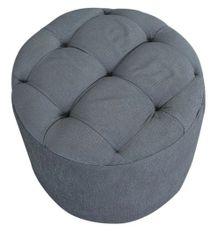 Pouffe Round Grey Cushion