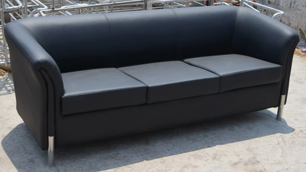 Office Sofa couch Leather Columbia 3 Seater