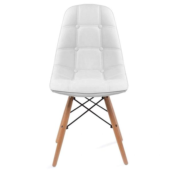 Button Stool - White