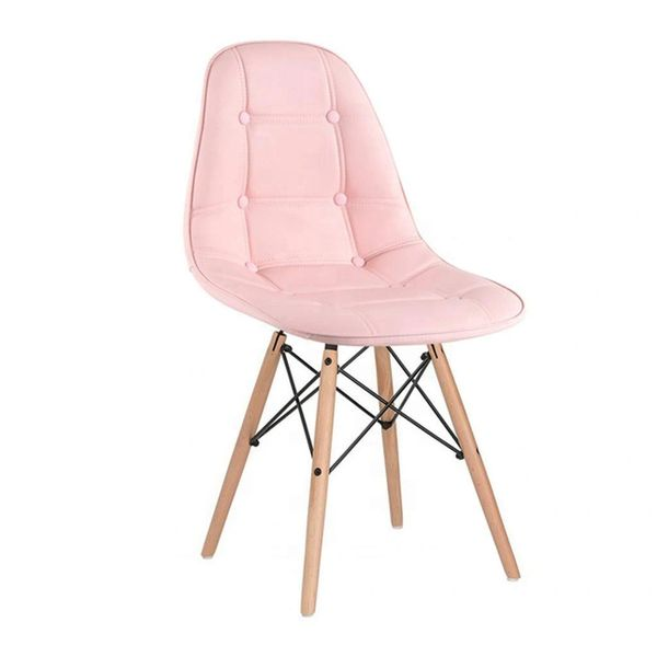 Button Stool - Pink