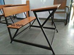 School Desk Class Room Wooden Bench 5879