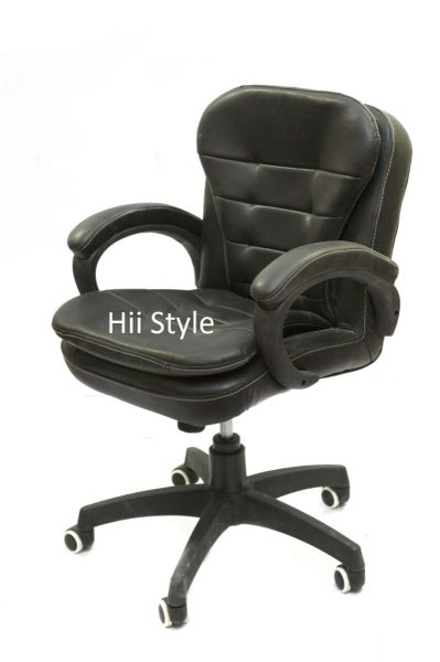 Office Chair revolving rolling leather (SC 454)
